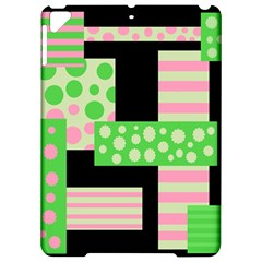 Green and pink collage Apple iPad Pro 9.7   Hardshell Case