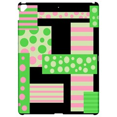 Green and pink collage Apple iPad Pro 12.9   Hardshell Case