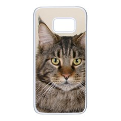 Maine Coon 2 Samsung Galaxy S7 White Seamless Case