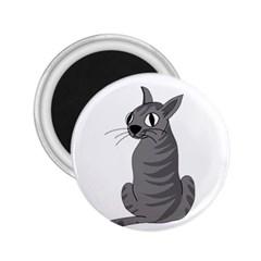 Gray cat 2.25  Magnets