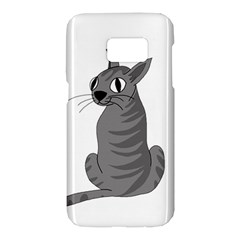 Gray cat Samsung Galaxy S7 Hardshell Case