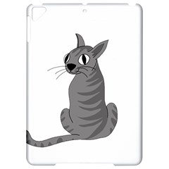 Gray Cat Apple Ipad Pro 9 7   Hardshell Case