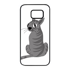 Gray cat Samsung Galaxy S7 edge Black Seamless Case