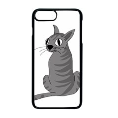 Gray cat Apple iPhone 7 Plus Seamless Case (Black)