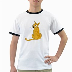 Yellow cat Ringer T-Shirts