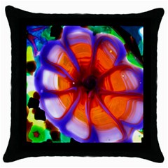 meadow Black Throw Pillow Case