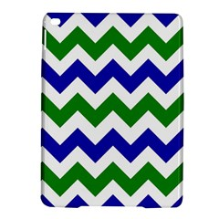 Blue And Green Chevron Ipad Air 2 Hardshell Cases