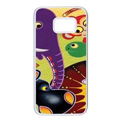 Animals Samsung Galaxy S7 White Seamless Case