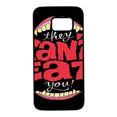 Cant Eat Samsung Galaxy S7 Black Seamless Case