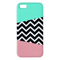 Chevron Green Black Pink Apple Iphone 5 Premium Hardshell Case