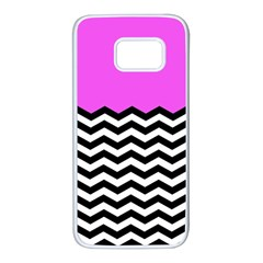 Colorblock Chevron Pattern Jpeg Samsung Galaxy S7 White Seamless Case