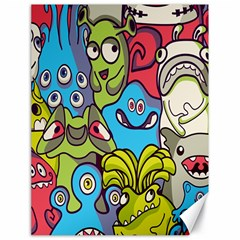 Colourful Monster Flooring Canvas 18  X 24