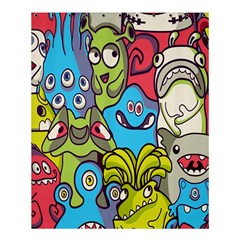 Colourful Monster Flooring Shower Curtain 60  X 72  (medium)
