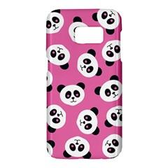 Cute Panda Pink Samsung Galaxy S7 Hardshell Case