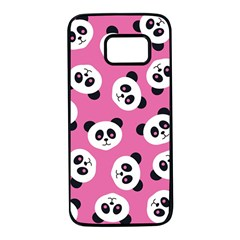 Cute Panda Pink Samsung Galaxy S7 Black Seamless Case