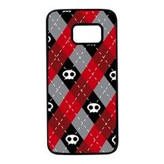 Cute Scull Samsung Galaxy S7 Black Seamless Case