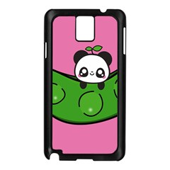 Edamame Panda Pink Cute Animals Samsung Galaxy Note 3 N9005 Case (black)