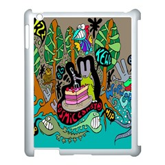 Cosmic Candy Monster Apple Ipad 3/4 Case (white)