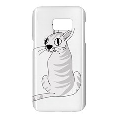 White cat  Samsung Galaxy S7 Hardshell Case