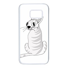 White cat  Samsung Galaxy S7 White Seamless Case