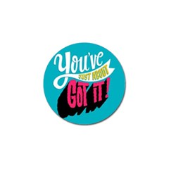 Youve Just About Gotit Golf Ball Marker (4 Pack)