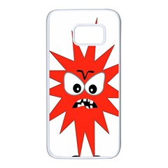 Monster Angry Samsung Galaxy S7 White Seamless Case