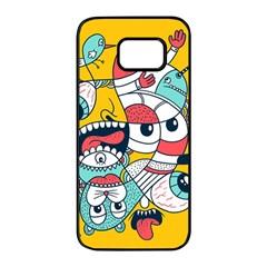 Monster Animals Samsung Galaxy S7 Edge Black Seamless Case