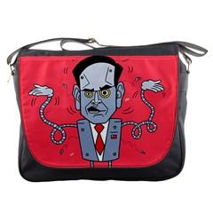 Monster Rubiobot Messenger Bags