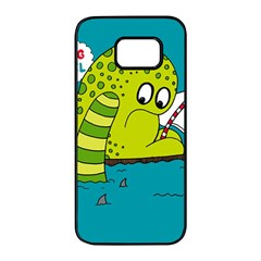 Monster Sea Too Big To Sail Samsung Galaxy S7 edge Black Seamless Case