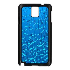 Shattered Blue Glass Samsung Galaxy Note 3 N9005 Case (black)