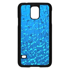 Shattered Blue Glass Samsung Galaxy S5 Case (black)