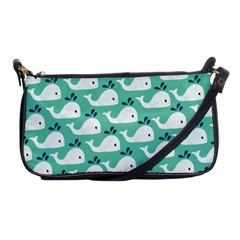 Whale Sea Blue Shoulder Clutch Bags