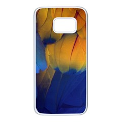 Parrots Feathers Samsung Galaxy S7 White Seamless Case