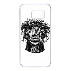 Fantasy Monster Head Drawing Samsung Galaxy S7 White Seamless Case