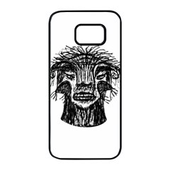 Fantasy Monster Head Drawing Samsung Galaxy S7 edge Black Seamless Case