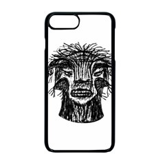 Fantasy Monster Head Drawing Apple Iphone 7 Plus Seamless Case (black)
