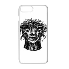 Fantasy Monster Head Drawing Apple Iphone 7 Plus White Seamless Case