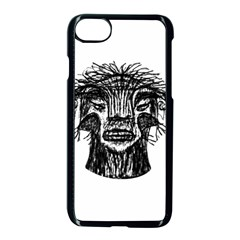 Fantasy Monster Head Drawing Apple Iphone 7 Seamless Case (black)