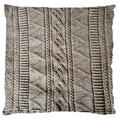 Rough Cable Knit Standard Flano Cushion Case (Two Sides)