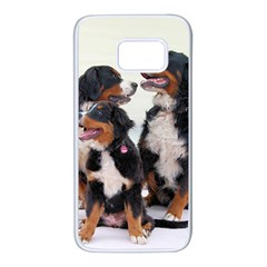 3 Bernese Mountain Dogs Samsung Galaxy S7 White Seamless Case