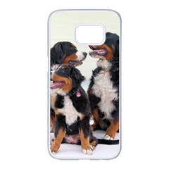 3 Bernese Mountain Dogs Samsung Galaxy S7 edge White Seamless Case
