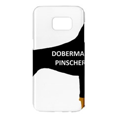 Doberman Pinscher Name Color Silo Black Samsung Galaxy S7 Edge Hardshell Case