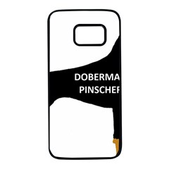 Doberman Pinscher Name Color Silo Black Samsung Galaxy S7 Black Seamless Case