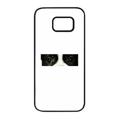French Bulldog Brindle And White Eyes Samsung Galaxy S7 edge Black Seamless Case