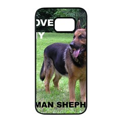 German Shepherd Love W Pic Samsung Galaxy S7 edge Black Seamless Case