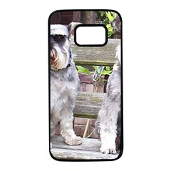 Two Miniature Schnauzers Samsung Galaxy S7 Black Seamless Case