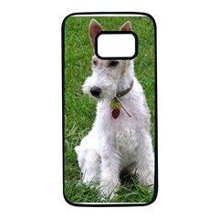 Wire Fox Terrier Sitting Samsung Galaxy S7 Black Seamless Case