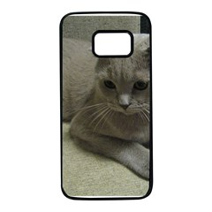 Scottish Fold Laying second Samsung Galaxy S7 Black Seamless Case