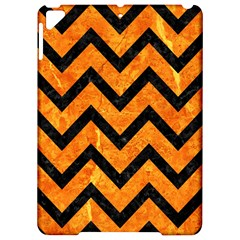 Chevron9 Black Marble & Orange Marble (r) Apple Ipad Pro 9 7   Hardshell Case