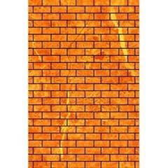 Brick1 Black Marble & Orange Marble (r) 5 5  X 8 5  Notebook